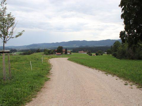 Landwirtschaftlicher Weg zweischichtiger Aufbau